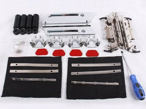 SADDLEBAG HARDWARE SET + CHROME LATCH COVERS FOR HD HARLEY-DAVIDSON BAGS LIDS