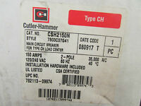 Cutler Hammer Csh2150n Main Circuit Breaker 150 Amp 2 Pole 120/2540vac Type Ch