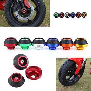 CNC Motorcycle Moped Front Rear Fork Wheel 15mm Frame Slider Crash Protector ES