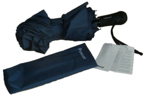 Volkswagen Passat Folding Blue Umbrella With LED Light VW Collection New Genuine
