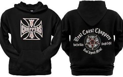 West Coast Choppers Pentagram  Herren Motorcycle Biker Outlaw Hoodie Sweatshirt