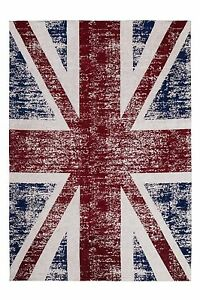 Image Is Loading Vintage Faded Distressed Union Jack Look Red Blue