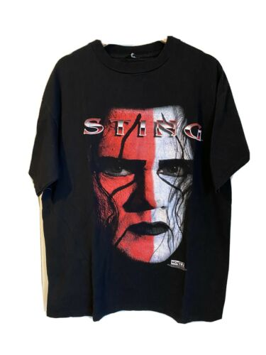 Rare 1998 Vintage WCW Sting Wrestling T Shirt Size