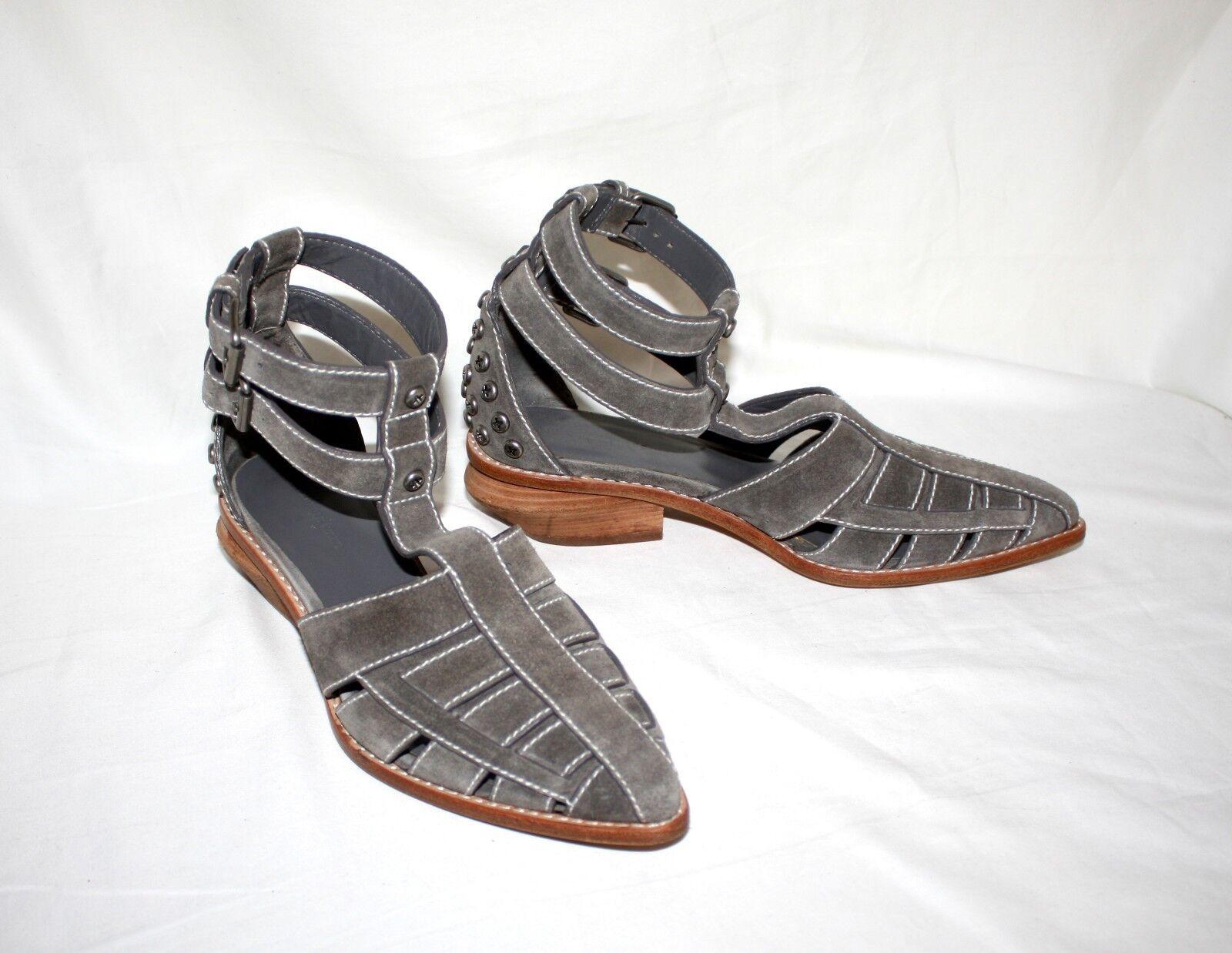 Alexander Wang gris Taupe Doble Hebilla Correa en el el el tobillo zapatos talla 37 6.5 - 7  exclusivo