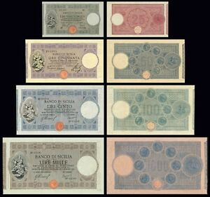 Banco Di Sicilia Copy Lot B (1909- 1918) - Reproductions K15cmudv-07214325-292832278