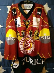 Size L Geneve-servette Hc Switzerland Ice Hockey Shirt Jersey Reebok