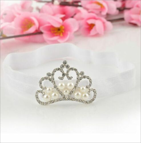 CB02 1 Pc Spring Pearl Princess Tiara Baby Tiaras Girl Headband Head Wear