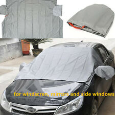 Car Front Windshield +Side Rearview Mirror Snow Ice Frost & Protector 6 Magnetic