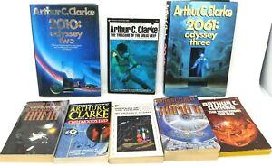 8-Book-Lot-ARTHUR-C-CLARKE-Science-Fiction-Sci-Fi-SciFi