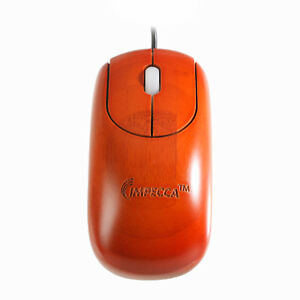 32bd84e03d9 IMPECCA WMB105 Bamboo Carved USB Mouse, Cherry Color 810941012662 | eBay