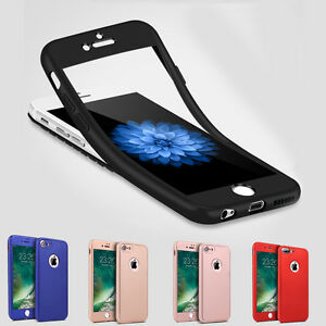 Fuer-iPhone-7-8-X-6-5-Full-Cover-TPU-360-Grad-Handy-Schutz-Huelle-Bumper-Case