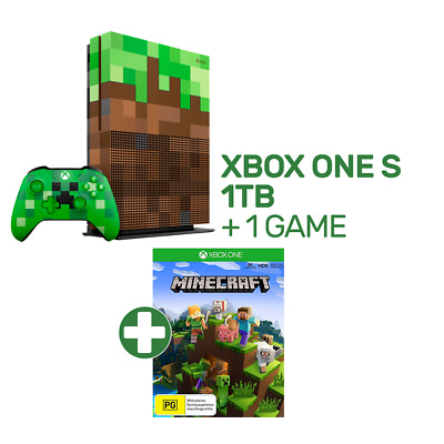 Xbox One S 1TB Limited Edition Minecraft Console + 1 Game - Xbox One - BRAND NEW
