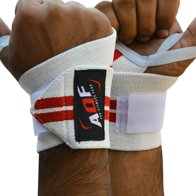TurnerMAX Weight Lifting Wrist Wraps Supports Gym Training Bandage Cotton