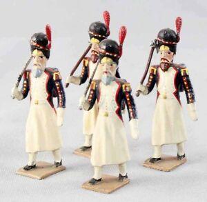 Figurines Cbg Mignot 4 Sapeurs 1er Empire / Antique Toy Soldier