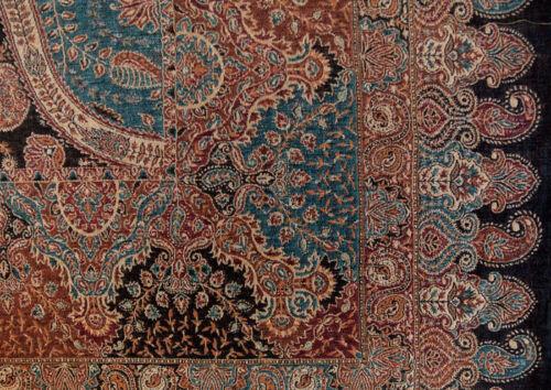 Jamavar Superior Large Ultra-Practical Colors Wool Shawl Detailed Paisley