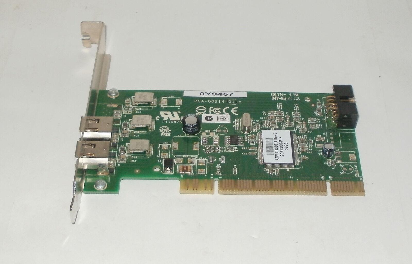 OEM Dell Y9457 Dual Port Adaptec AFW-2100 PCI FireWire PCI Card IEEE-1394 0Y9457