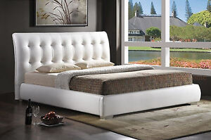 Modern-King-White-Tufted-Faux-Leather-Padded-Platform-Bed-Frame