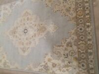 POTTERY BARN BRYSON PERSIAN STYLE RUG, 5 X 8, PORCELAIN BLUE, SOLD OUT@ PB, NEW