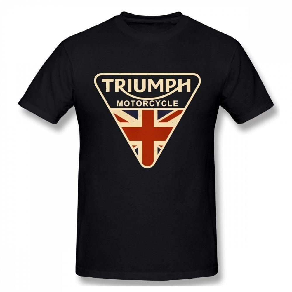 Cracked Shirt Union Jack Triumph Motorcycle Men T Shirt UK Flag Men/'s T Shirts