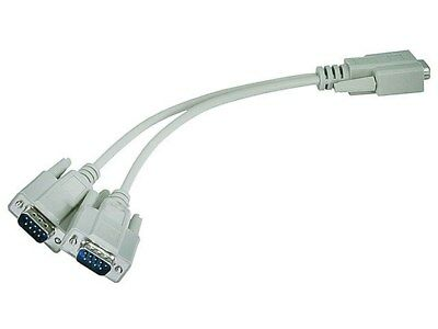 Serial Female 2 Male Cable 2 Splitter to Rs232 DB9 Rs232 Male F17686 to 2 Female