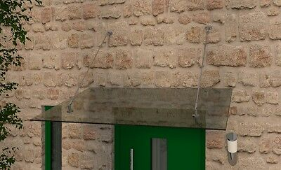 Sparsam Haustür Edelstahl Glas Vordach 1,1m X 14 Mm Vsg Durch Wissenschaftlichen Prozess Baustoffe & Holz