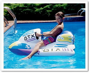 Jet Ski Boat Inflatable Children Pool Float Rafts Water Summer Fun Kids Sport