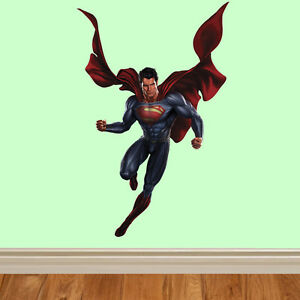 Superman-Acier-bd-autocollant-pour-enfants-mur-chambre-a-coucher-art-vinyle