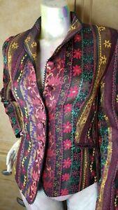 Caroline-Charles-London-Floral-Ruffle-Trim-Slip-Wrist-Blazer-Top-Jacket-Size-6