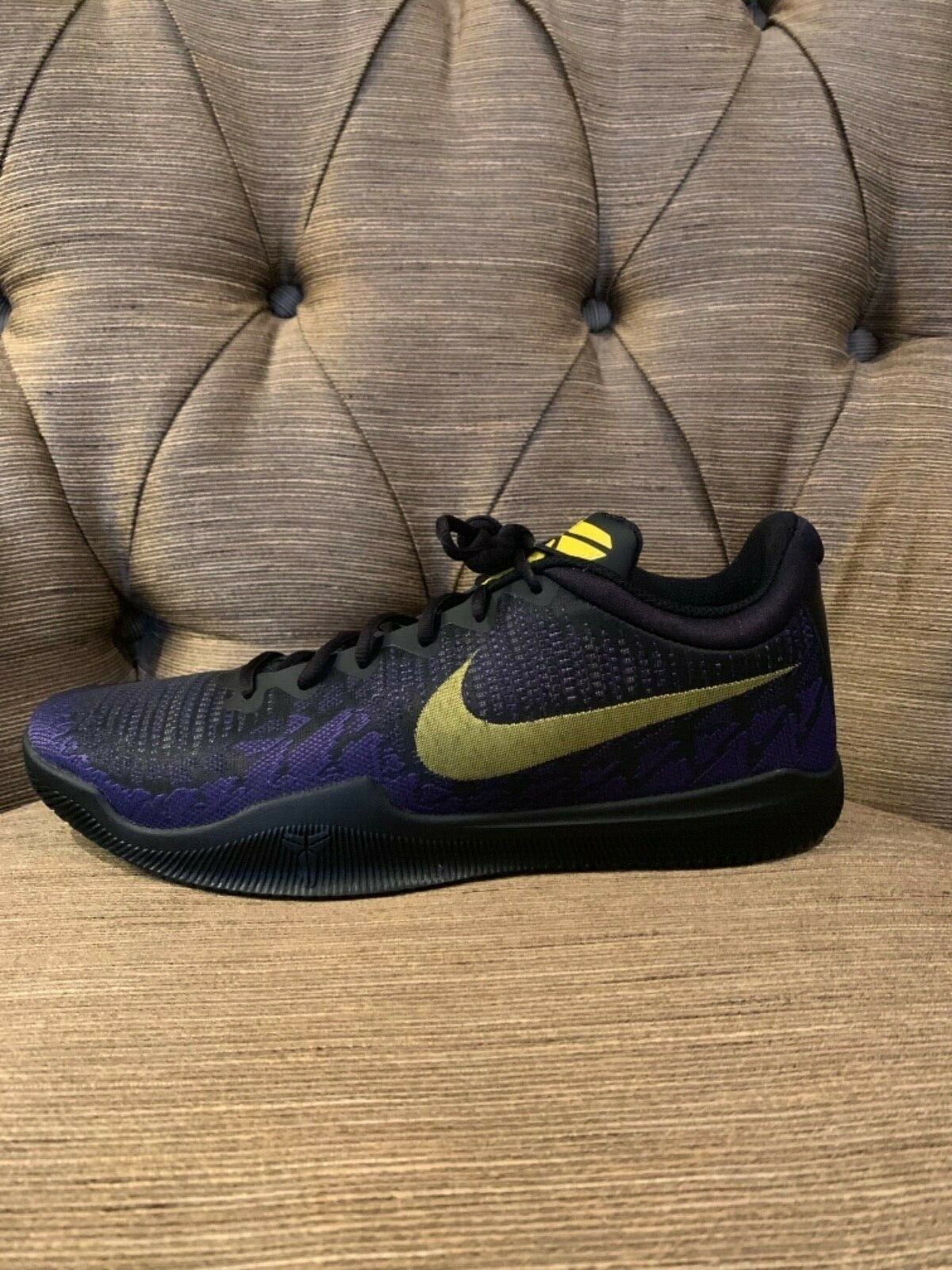 Nike Kobe Mamba Rage Lakers Size 11 Black Yellow Purple Brand New Rare