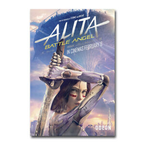 Alita Battle Angel Anime Movie Poster Silk Wall Art Home Decor Print 24x36 inch
