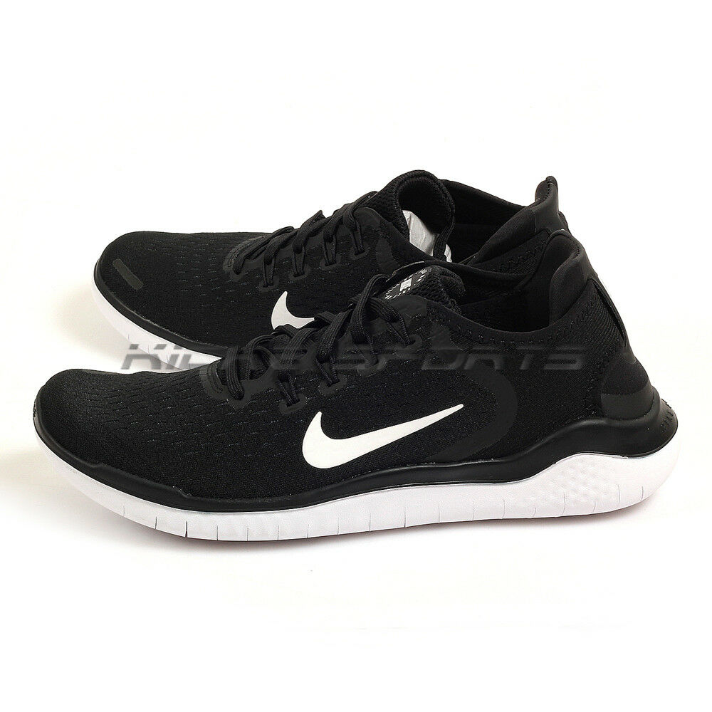 Nike Free RN 2018 Black/White Breathable Barefoot Running Shoes 942836-001