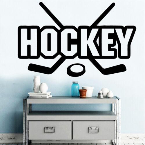 Hockey Vinyl Decals Wall Stickers Living Room Company School Office Decoration