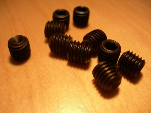 "Black GRUB Screws Cup Point Pack of 5  1//4/""  5//16/"" UNF Unified Fine"