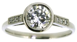 New-Handmade-platinum-diamond-solitaire-engagement-ring-size-L-round-cut-0-75ct