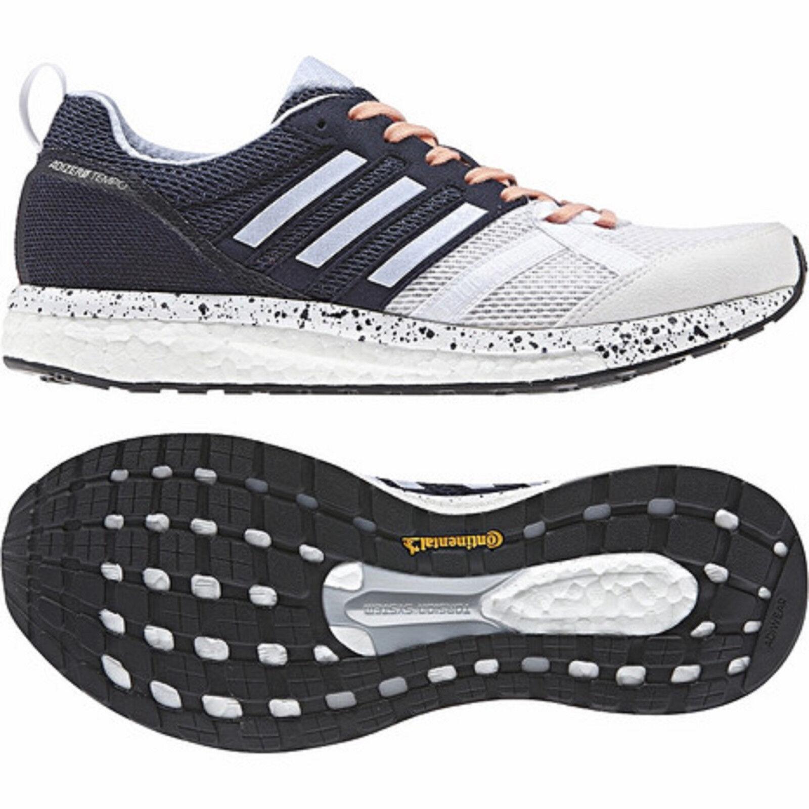 Adidas 2017 Adizero Boost Running shoes White bluee Peach CP9499 Women's Size 7