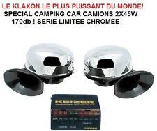 SPECIAL CAMPING CAR CARAVANE LE KLAXON DOUBLE LE + PUISSANT DU MONDE 2X45W 170db
