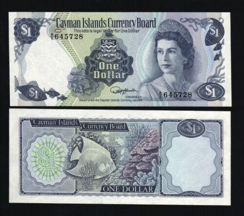 CAYMAN ISLANDS $1 P5 1974 FISH QUEEN UNC A/5 BANK NOTE