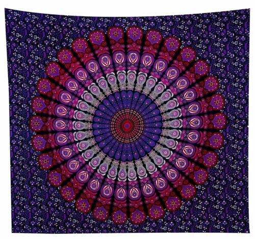 Tapestry Indian Hippie Wall Hanging Throw Boho Round Beach Mandala Tapestries