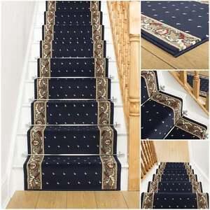 treppenteppich l ufer f r schmale treppen blau gepunktet modern g nstig neu ebay. Black Bedroom Furniture Sets. Home Design Ideas