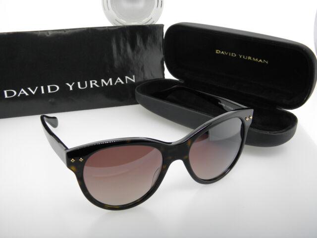 24f9d66571 David Yurman Eye Wear Sun Sunglasses  DY099 02 Floating Logo Dark Tortoise