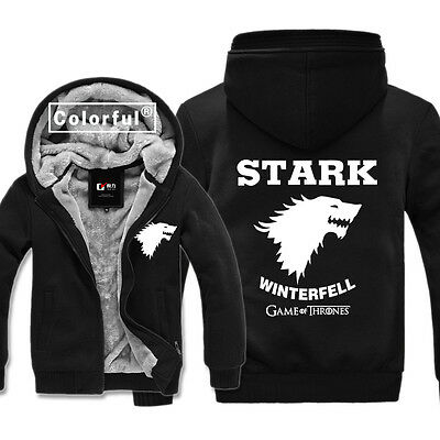 Game of Thrones House Stark of Winterfell The Wolf Sweater Hoodies Winter Coat