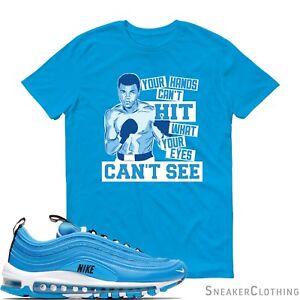 3b7fa4480f Muhammad Ali Nike Air Max 97 Blue Hero Unisex Men Women Kids Youth T ...