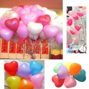 Big-Rainbow-Mix-10-034-Heart-Shaped-Biodegradable-Balloons-Wedding-Party-Funeral