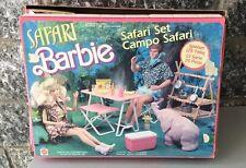 1988#VINTAGE BARBIE ANIMAL LOVIN SAFARI SET# NIB VERT RARE