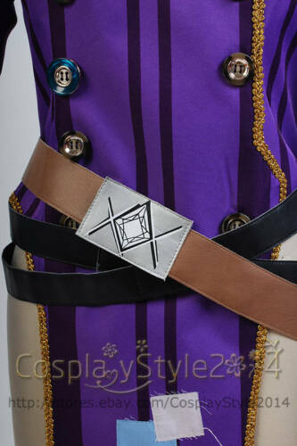 Borderlands Mad Moxxi Uniform COSplay Costume Outfit Attire Purple Red Dress Set