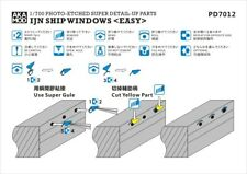 AKA PE 1//700 IJN SIDE SCUTTLE SHIP WINDOWS PD7011