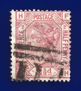 1875-SG139-2-d-Rosy-Mauve-Plate-2-J2-FH-Misperf-Dundee-Good-Used-Cat-120-cjsu