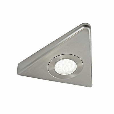 KITCHEN UNDER CABINET CUPBOARD LED SLIM TRIANGLE LIGHT KIT STAINLESS FINISH COMO
