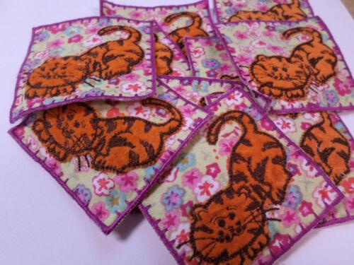 Tiger Floral Girl Card Making Arts Crafts Invitation Motifs #12L152 Pack of 10