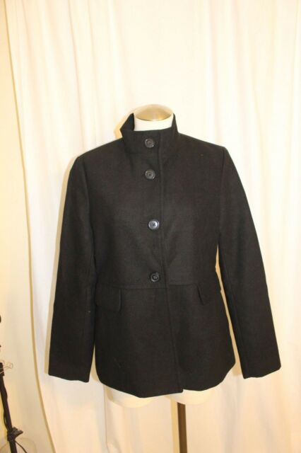 3b9bc8631f6 Old Navy Black Black Button Front Hip Length Peacoat Size M EUC